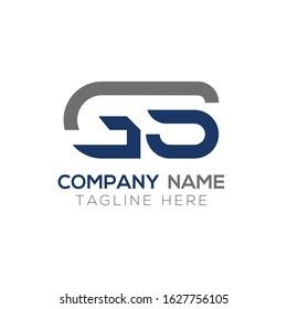 GS Creative Letter Logo Design vector Template. Abstract Letter GS logo Design