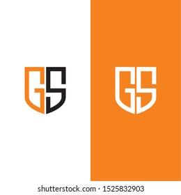 gs g5 initial logo vector design