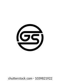 GS initial circle logo template vector