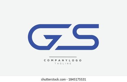 GS initials monogram letter text alphabet logo design