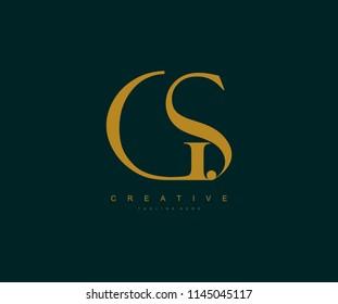 GS Letter Linked Luxury Premium Logo