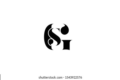 GS  Letter Logo Design with Creative Modern Trendy Typography