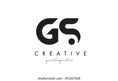 GS Letter Logo Design with Creative Modern Trendy Typography and Black Colors.