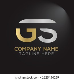 GS letter Type Logo Design vector Template. Abstract Letter GS logo Design