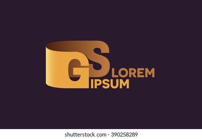 GS letters logo, G and S letters logo alphabet design.
