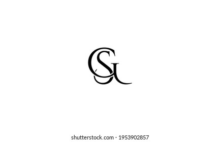 GS SG Abstract initial monogram letter alphabet logo design