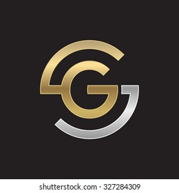 GS or SG letters, golden silver circle S shape