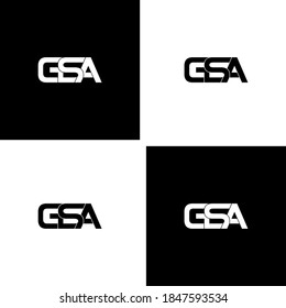 gsa letter original monogram logo design