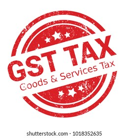 GST. Good and Services Tax concept. GST tax