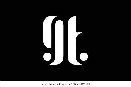 GT logo design template vector illustration