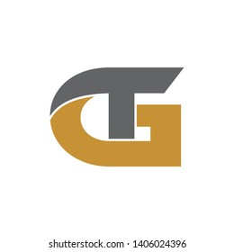 GT simple logo design vector