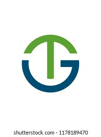 GT or TG initial Logo Template vector icon design
