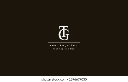 GT or TG letter logo. Unique attractive creative modern initial GT TG G T initial based letter icon logo