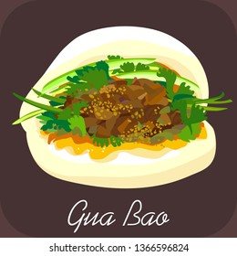 Gua bao, Pork bao, bbq pork bao, Chinese food, Taiwanese burger