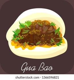 Gua bao, Pork bao, Chinese food, bbq pork bao, Taiwanese hamburger