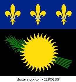 Guadeloupe Flag Black Variant
