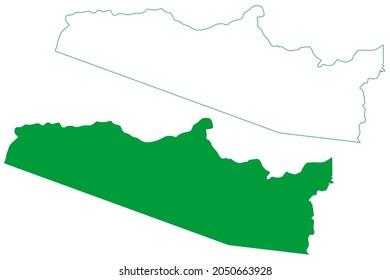 Guajara municipality (Amazonas state, Municipalities of Brazil, Federative Republic of Brazil) map vector illustration, scribble sketch Guajara map
