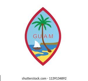 guam logo emblem flag vector