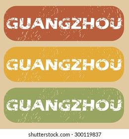 Guangzhou on colored background