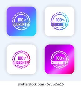 Guarantee bright purple and blue gradient app icon