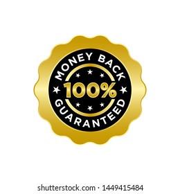 Guarantee Gold Emblem Seal Vector Template