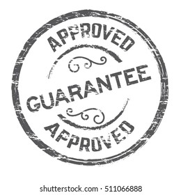 guarantee icon vector stamp