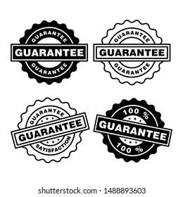 Guarantee rubber stamp icon vector