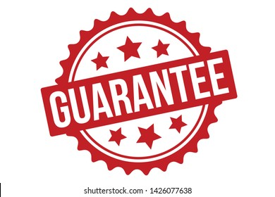 Guarantee Rubber Stamp. Red Guarantee Stamp Seal – Vector