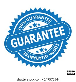 Guarantee rubber stamp sign.-eps10 vector