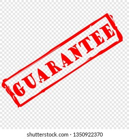 guarantee, rubber stamp vector