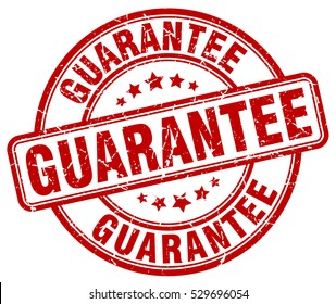 guarantee. stamp. red round grunge vintage guarantee sign