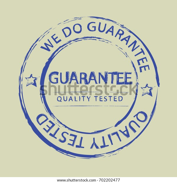 Guarantee stamp template. Illustrated vector isolated background