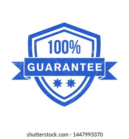 guarantee stamp vector design template