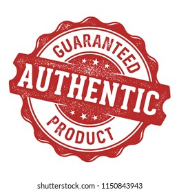 Guaranteed authentic product label/stamp