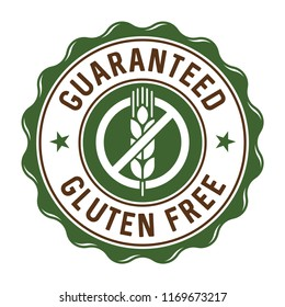 Guaranteed gluten free stamp/label