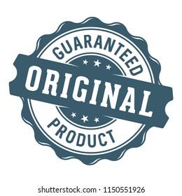 Guaranteed original product label