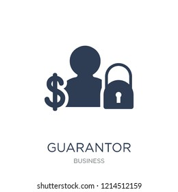 Guarantor icon. Trendy flat vector Guarantor icon on white background from Business collection, vector illustration can be use for web and mobile, eps10