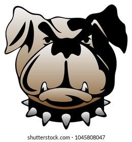 Guard Dog Face Vector Illustration