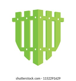 Guard Garden.fence.Shield.logo icon vector