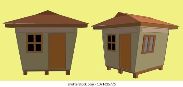 Guard House Vector Illustration