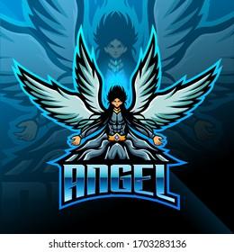 Guardian Angel esport mascot Logo design