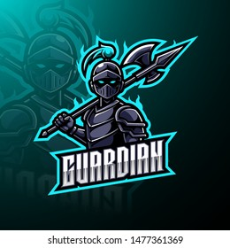 Guardian esports mascot logo design