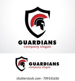 Guardians Logo Template Design Vector, Emblem, Design Concept, Creative Symbol, Icon