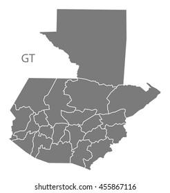 Bilder Stockfoton Och Vektorer Med Guatemala Map Shutterstock
