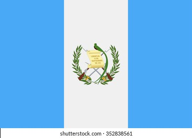 Guatemala Flag - Vector Illustration Vector Illustration of Guatemala Flag Icon