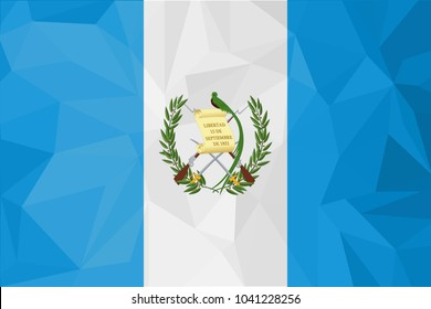 Guatemala Flag vector illustration. Guatemala Flag. National Flag of Guatemala .