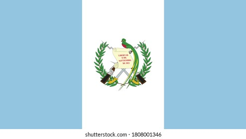 Guatemala Flag Vector - Official Guatemala Flag With Original Color and Size Proportion