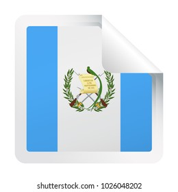Guatemala Flag Vector Square Corner Paper Icon - Illustration