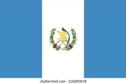 Guatemala Guatemalan Country Flag Illustration Design