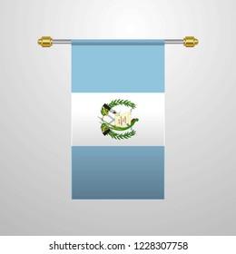 Guatemala hanging Flag
